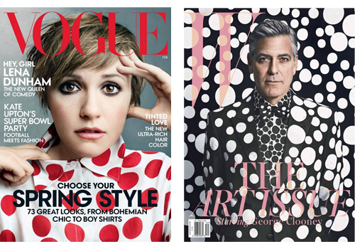Lena Dunham and George Clooney Polka Dot